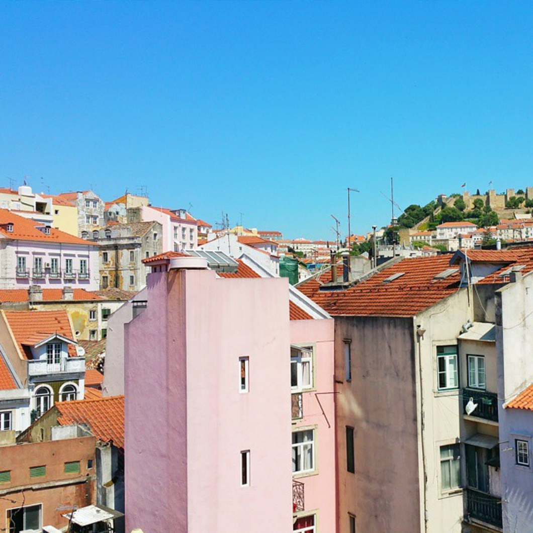 On my first of four cities (Lisbon, Madrid, Barcelona, and Paris) I'll be visiting over the next three weeks (keep up via INSTAGRAM), I am finally checking out the sunny and very colorful city of Lisbon.