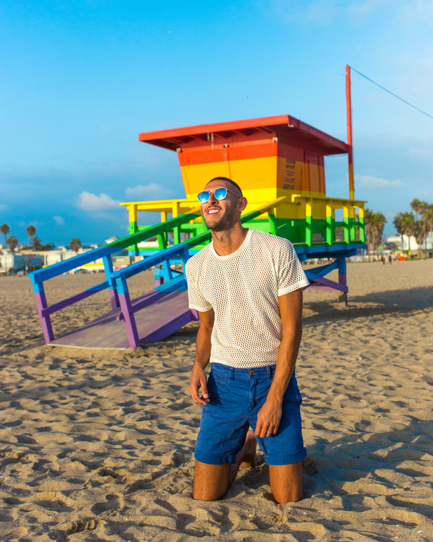 Thumb freddy rodriguez at venice beach rainbow lifegaurd